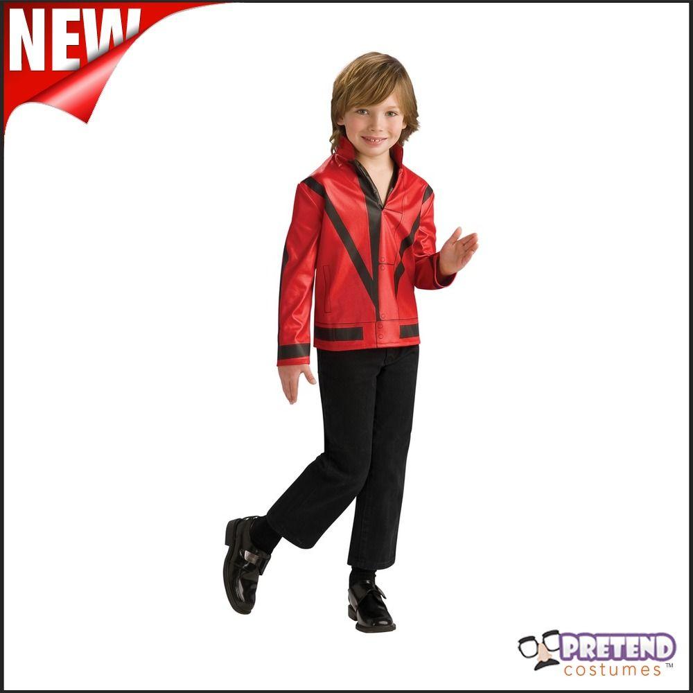 Kids Boys Michael Jackson Thriller Jacket Shirt King of Pop Halloween