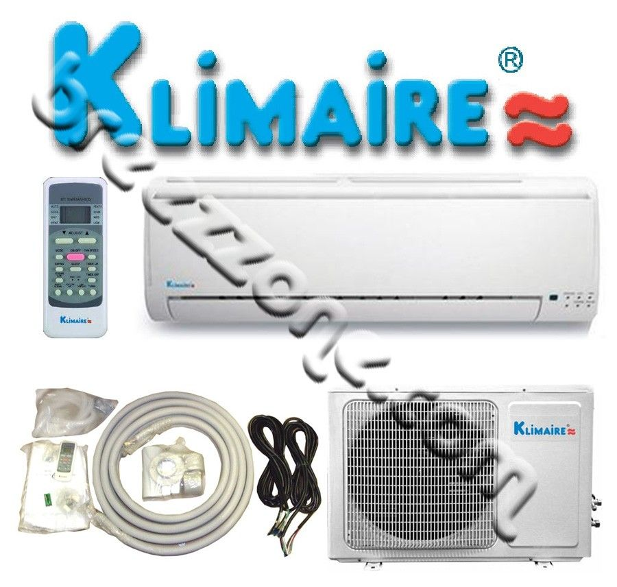 KLIMAIRE DUCTLESS MINI SPLIT AIR CONDITIONER & HEAT PUMP 13 SEER WITH