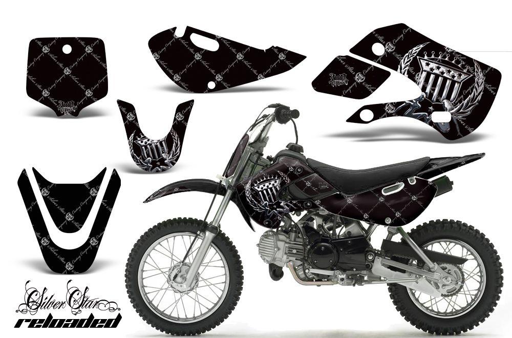 AMR Racing MX Number Plate Sticker Decal Kawasaki KLX 110 02 09 KX 65