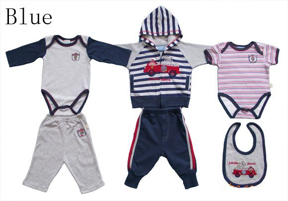 Cute New Cotton Clothes 6 Piece Suit for Baby Toddler Boys and Girls 3