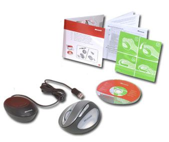 Microsoft 69K 00001 Natural Wireless Laser Mouse 6000 Metallic Grey