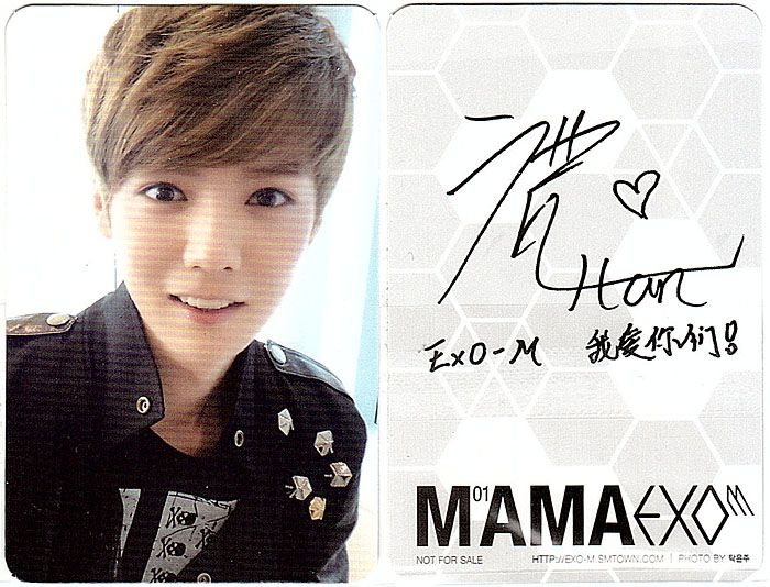 Exo Exo M Mama Luhan B Type B Photo Card Super Junior B1A4 Infinite