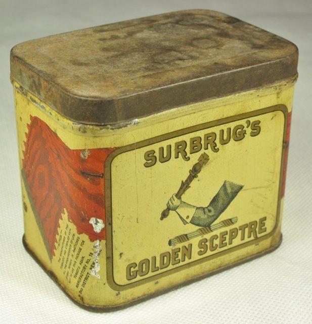 Golden Scerptre Tobacco Tin Hasker Marcuse Mfg Co Richmond VA