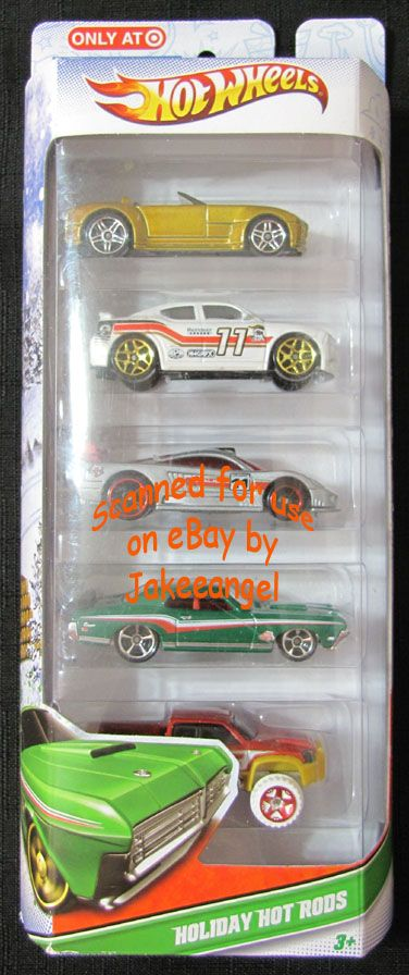Hot Wheels Holiday Hot Rods Target Exclusive New 5 Car Set 2011 Sold