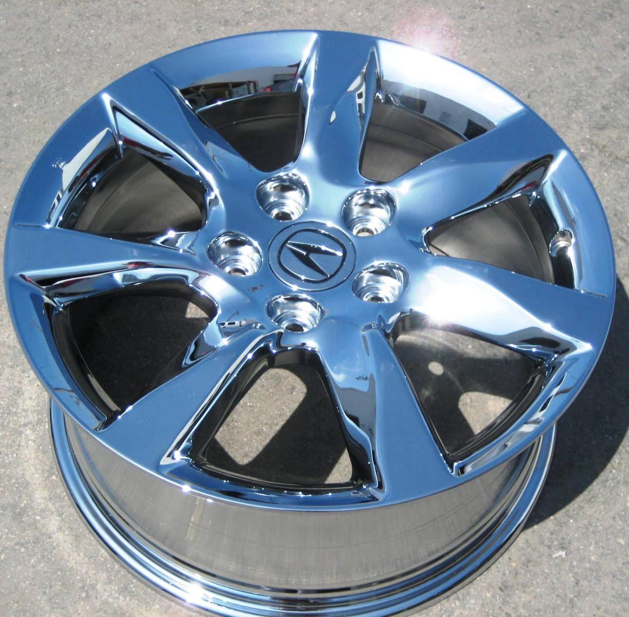 Stock 4 New 17 Factory Acura TL Chrome Wheels Rims 2012