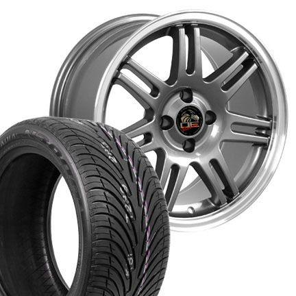17 9 10 Gunmetal 10th Anniversary Wheels Nexen Tires Rims Fit Mustang