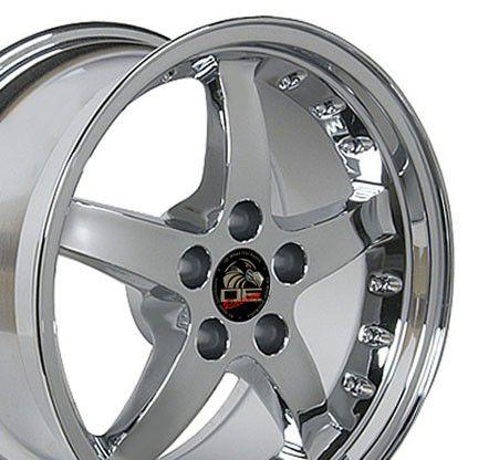 17 9 10 5 Chrome Cobra Wheels Rims Fit Mustang® 94 04