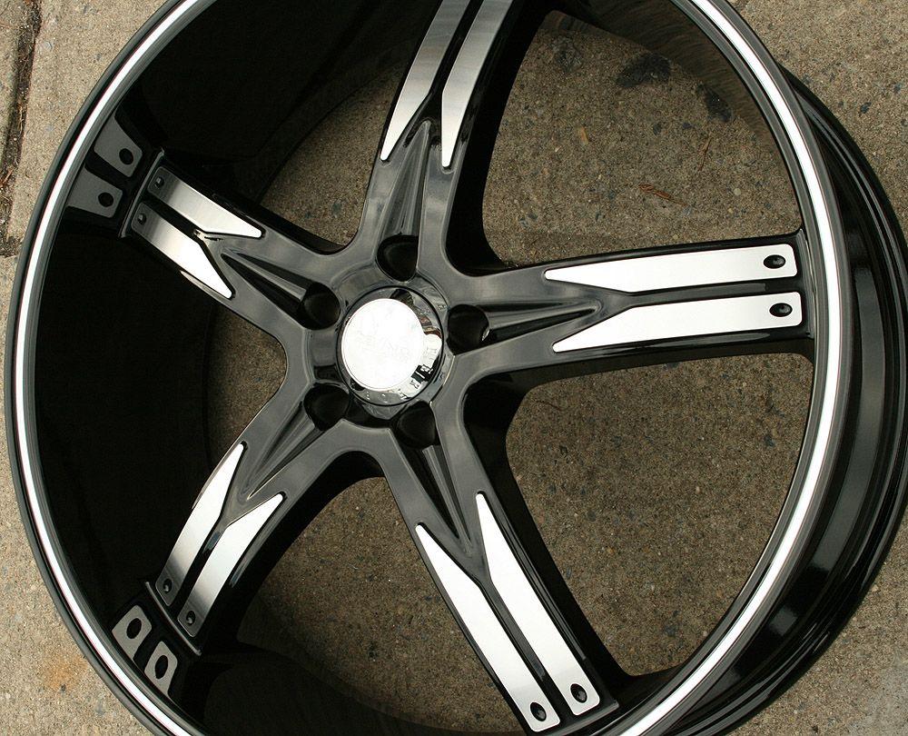 762 22 Black Rims Wheels Nissan Altima 02 Up 22 x 8 5 5H 35