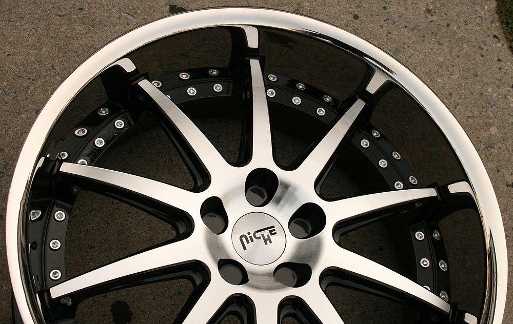 Niche Spa 22 Black Rims Wheels BMW 745 760 7 Series 22 x 9 0 10 5 5H