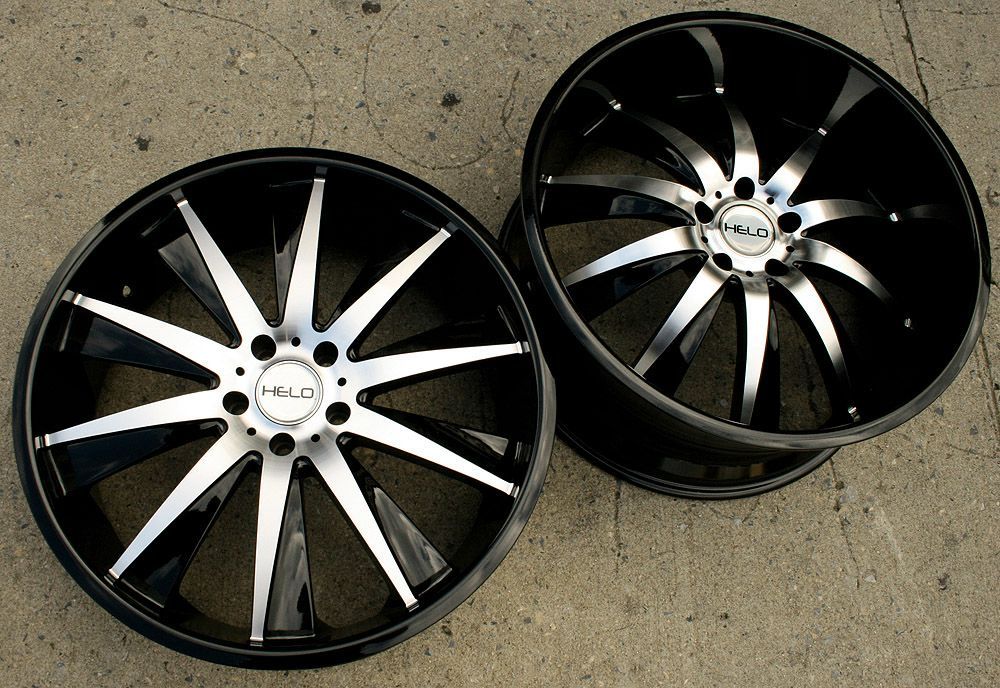 Helo 851 22 Black Rims Wheels Nissan 350Z Staggered 22 x 8 5 10 5H 40