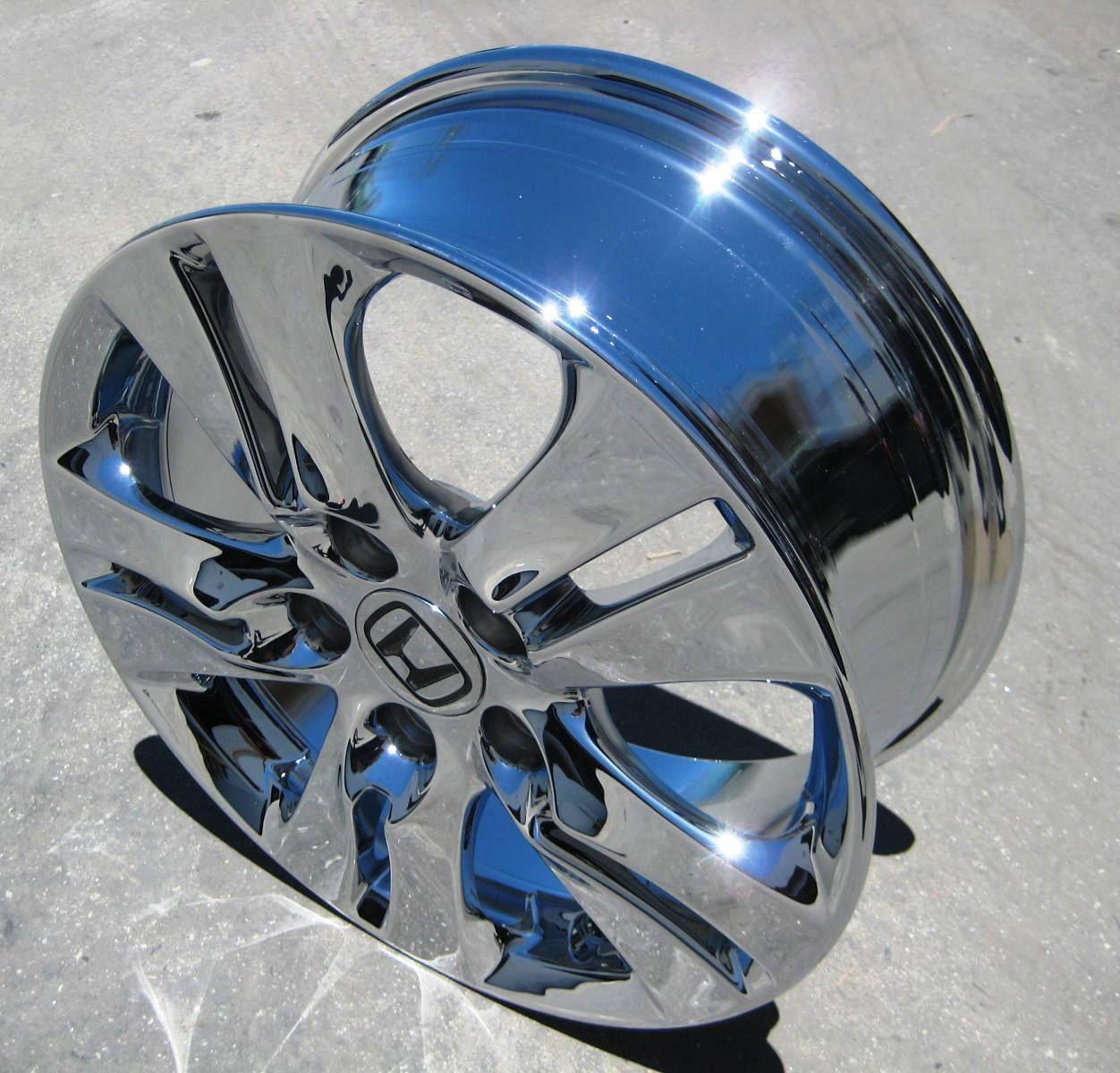 Stock 4 New 16 Factory Honda Accord Chrome Wheels Rims 2011 12