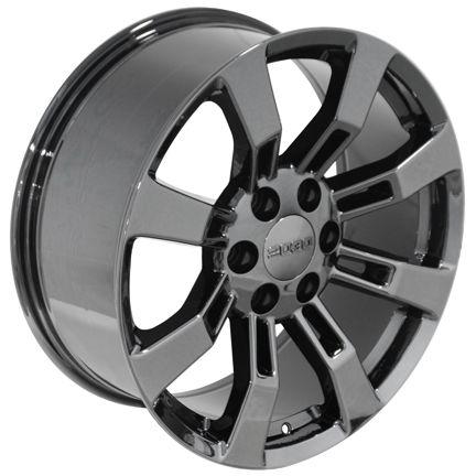 20 Black Chrome Escalade Wheels Rims Fit Cadillac GMC Yukon Tahoe