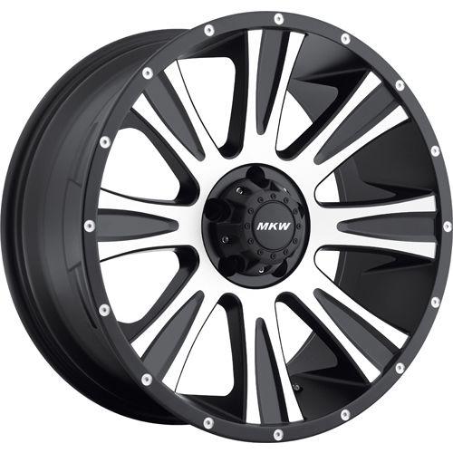 20x9 Black Machined Wheel MKW Offroad M87 6x5 5