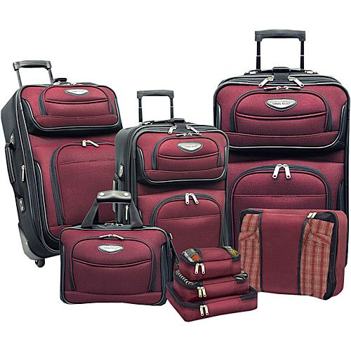 Travelers Choice Amsterdam 8 Piece Luggage Set