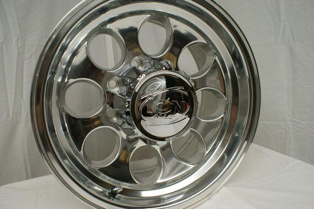 16 ion Wheels Rims Polished Ford F250 F350 Excursion