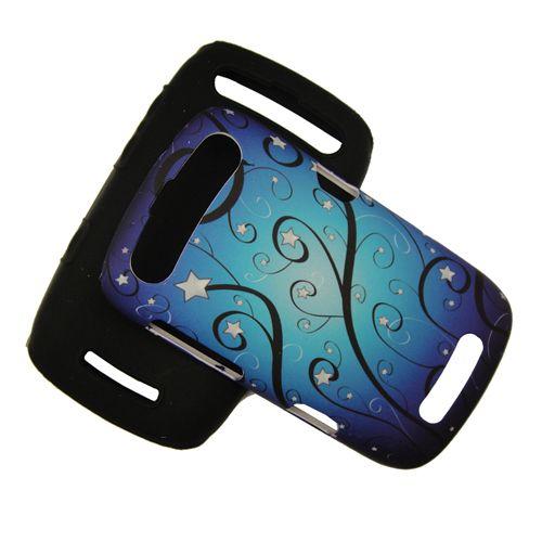 New Sprint Blackberry Curve 9350 9360 Silicon Rubber PC Case Blue Star