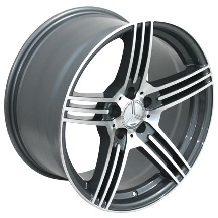 Gunmetal AMG Wheels Set of 4 Rims Fit Mercedes C E s Class SLK