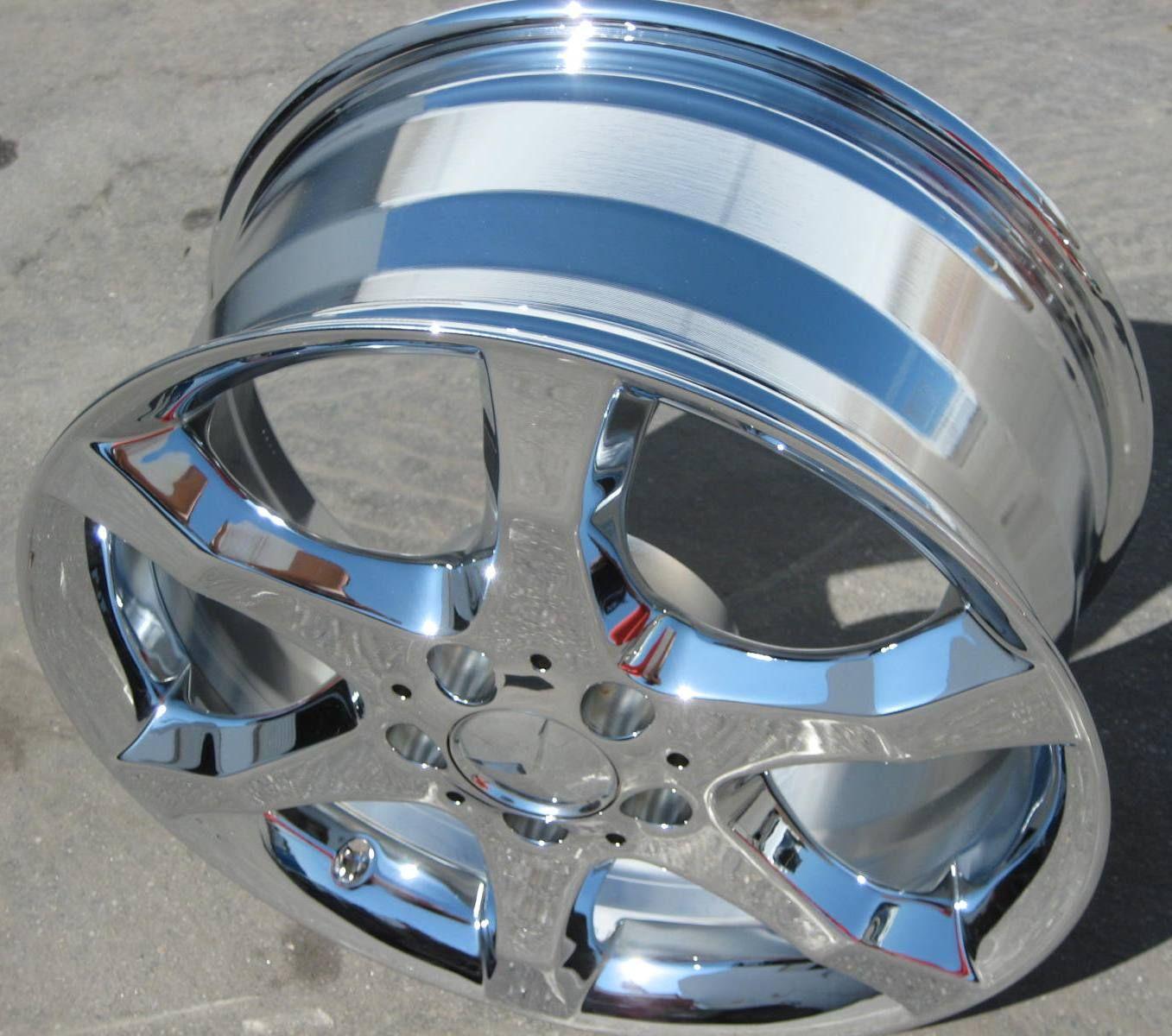 Stock 4 New 17 Factory Mercedes C230 C350 Chrome Wheels Rims