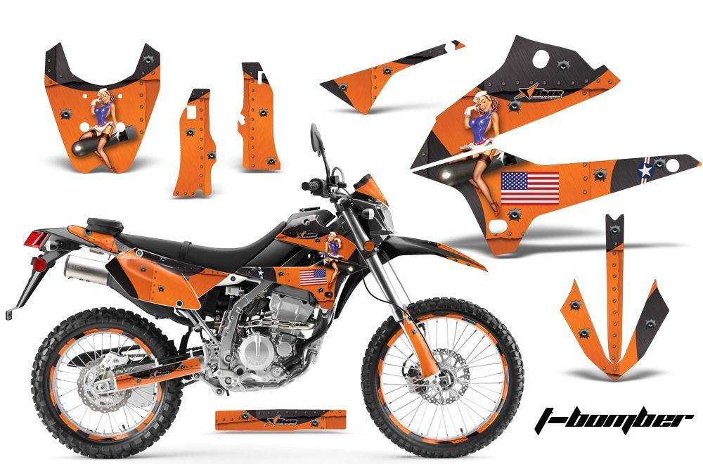 AMR Racing Motorcycle Graphic MX Deco Wrap D Tracker Kawasaki KLX 250