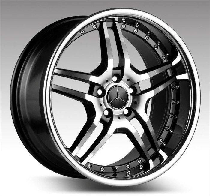 19 Euromag EM2 Staggered Wheels Rims Fit Mercedes CL500 CL600 C230