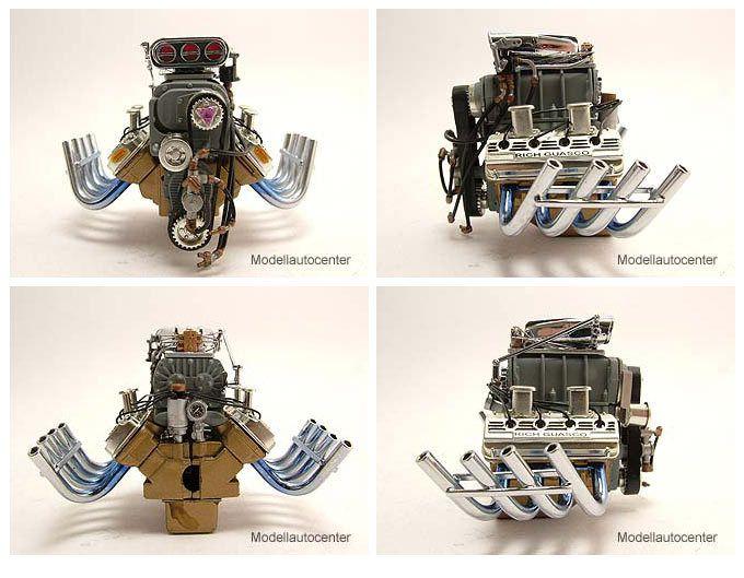 426 Blown HEMI Engine Motor Motormodell 1:18 Acme