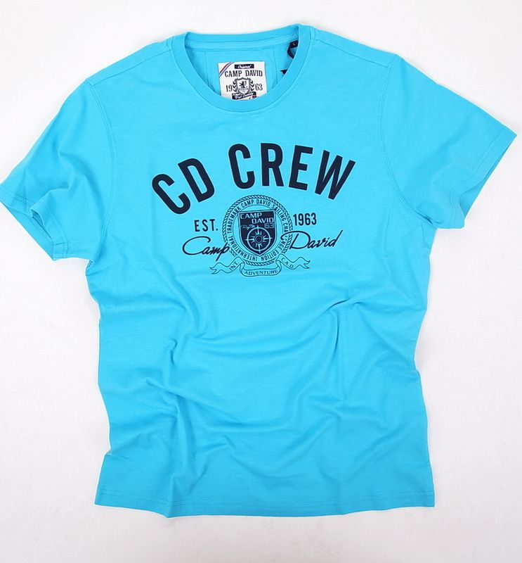 camp david t shirt herren kurzarm the caribean melon cd crew blau gr. Black Bedroom Furniture Sets. Home Design Ideas