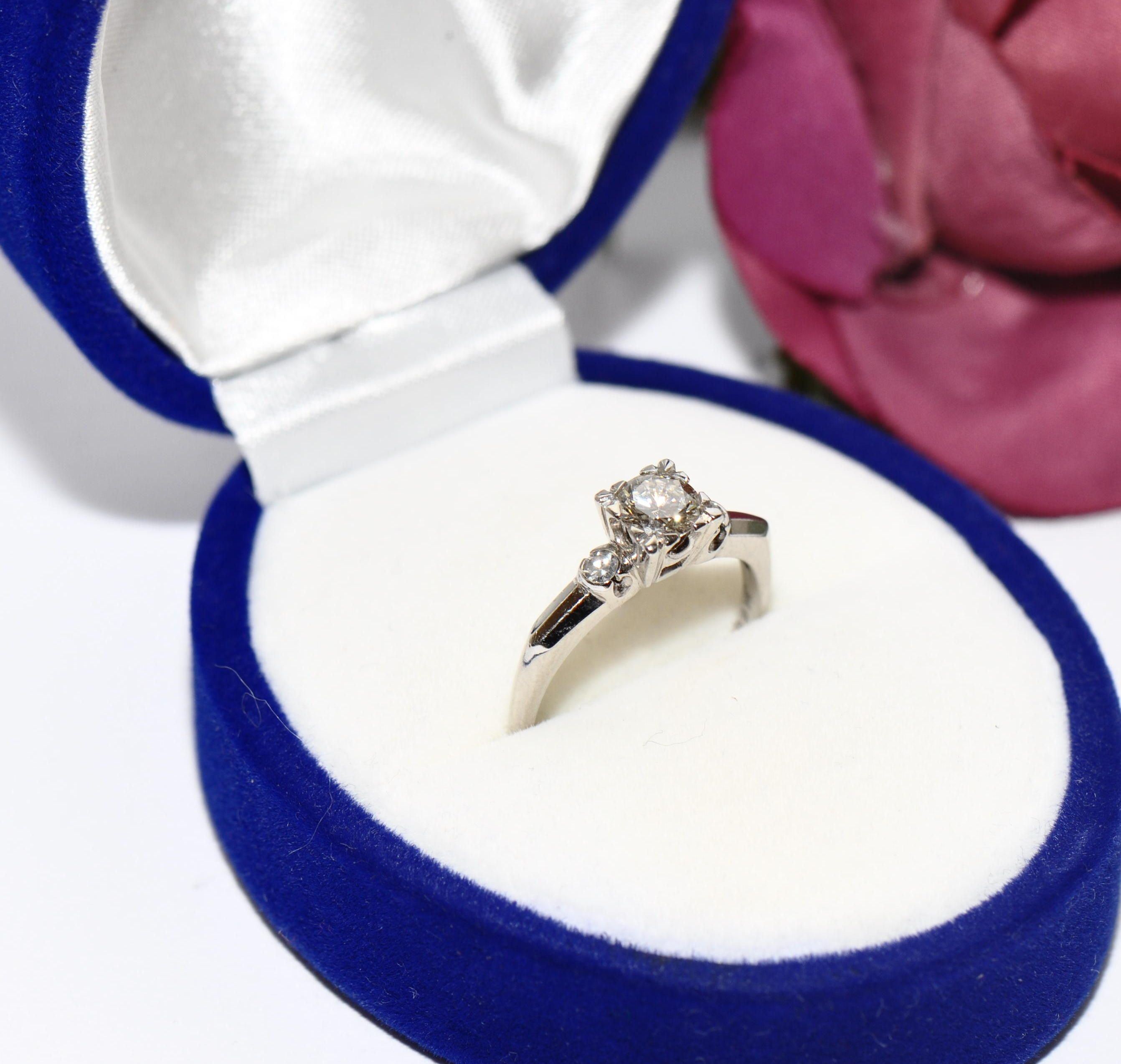 extravaganter 0,60ct Brillant Diamant 750er Gold Ring Brillantring Ehe