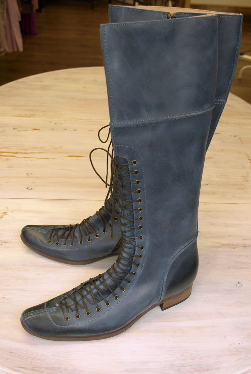 NOA Stiefel Blau Leder JODIE BOOTS Gr.39 NP 249.95 NEU Schuhe