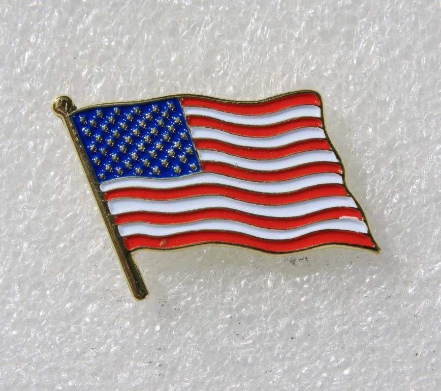 USA Amerika Flagge American US Flag Fahne Button Pin Anstecker