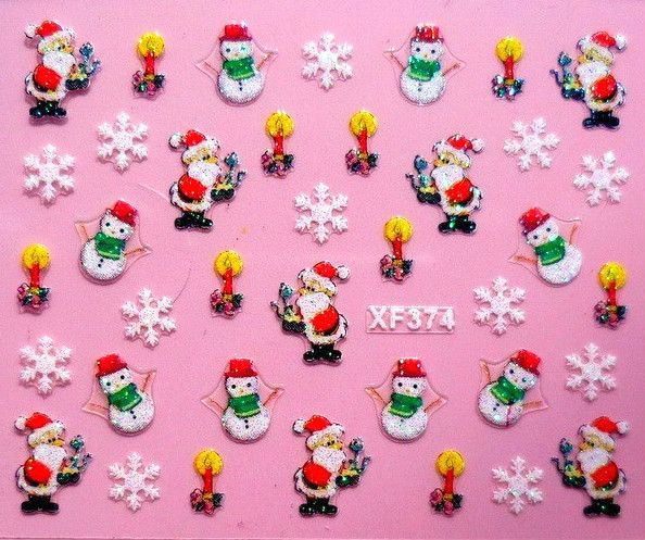 Nail Art Sticker christmas Weihnachten selbstklebend XF374 Tattoo