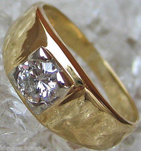 Brillant Schmuck Solitaer Halbkaraeter 14kt 585 Gold Ring Diamant 3280