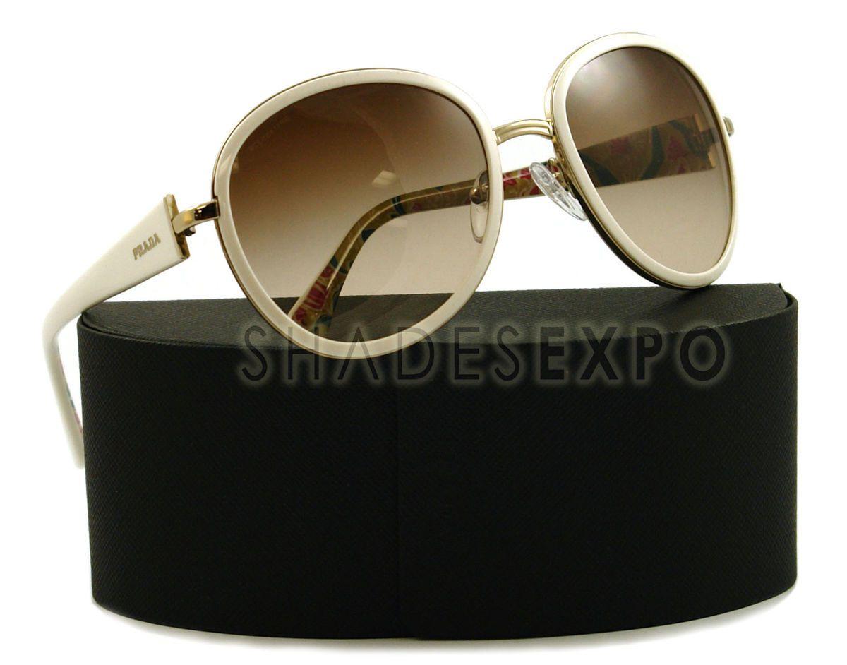 NEW Prada Sunglasses SPR 51N WHITE ZVN 6S1 SPR51N AUTH
