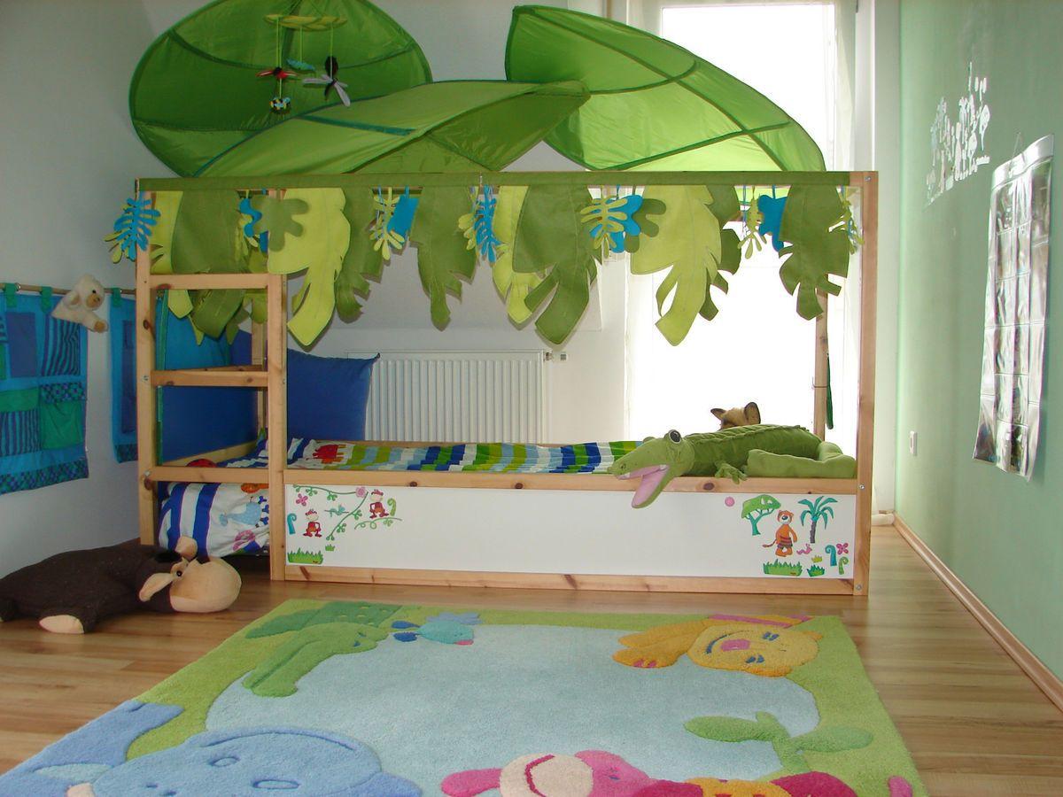 Ikea Bett Kura Spielbett Halbhohes Bett Mit Haba Deko Wunderschon